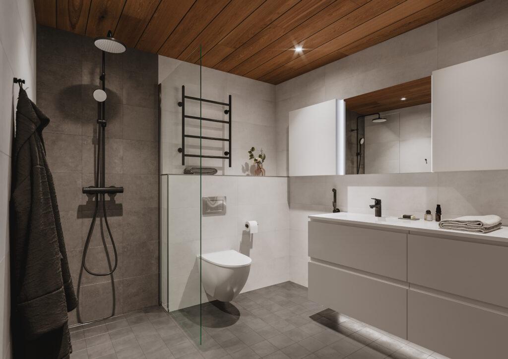 Rooma sisustus, kylpyhuone